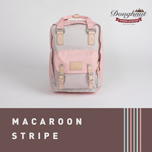 2019 New Year BIG SALE - Doughnut Macaroon Stripe Collection STONE X LIGHT CORAL  [Regular and Mini]