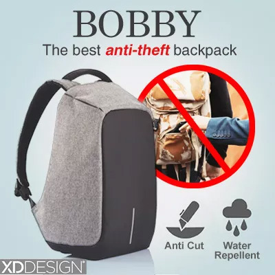 Buy Bobby the Best Anti Theft backpack by XD Design Deals for only S$139 instead of S$0