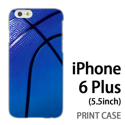 iPhone6 Plus (5.5インチ) 用『No4 バスケットボール 青』特殊印刷ケース【 iphone6 plus iphone アイフォン アイフォン6 プラス au docomo softbank Apple ケース プリント カバー スマホケース スマホカバー 】の画像