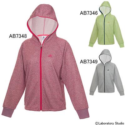 アディダス (adidas) レディース FLEUR スウェット パーカー1 AAZ87 [分類:テニス トレーニングジャケット] 送料無料の画像