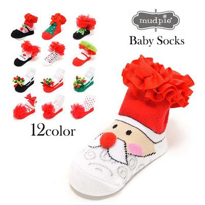 マッドパイ Mud Pie ベビーソックス/靴下 0-12m(0~12ヶ月) PARTY SOCKS 131241クリスマス ベビー用品 赤ちゃん ベビーグッズ 出産祝い 通販の画像