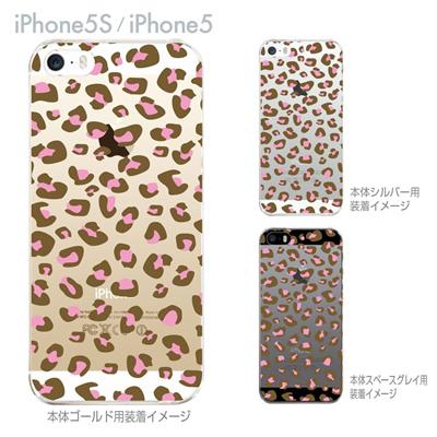 【iPhone5S】【iPhone5】【iPhone5sケース】【iPhone5ケース】【カバー】【スマホケース】【クリアケース】【アニマル】【ヒョウ柄】 22-ip5s-ca0036の画像