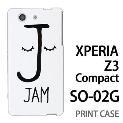 XPERIA Z3 Compact SO-02G 用『0623 「J」』特殊印刷ケース【 xperia z3 compact so-02g so02g SO02G xperiaz3 エクスペリア エクスペリアz3 コンパクト docomo ケース プリント カバー スマホケース スマホカバー】の画像