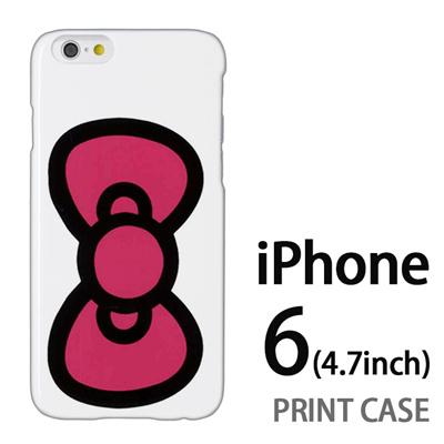 iPhone6 (4.7インチ) 用『0626 ピンクリボン』特殊印刷ケース【 iphone6 iphone アイフォン アイフォン6 au docomo softbank Apple ケース プリント カバー スマホケース スマホカバー 】の画像