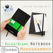 Monogrammed Notebook 2017 Planner ♥ Personalized Gift ♥ Customized Leather Planner ♥ Organiser/Organizer ♥ Insert ♥ Personalised ♥ Customised ♥ Yearly ♥ Weekly ♥ Name ♥ Pens