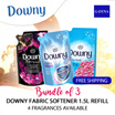 [G-DYNA]Bundle of 3 Downy Fabric Softener 1.5L Refill - 4 Fragrance