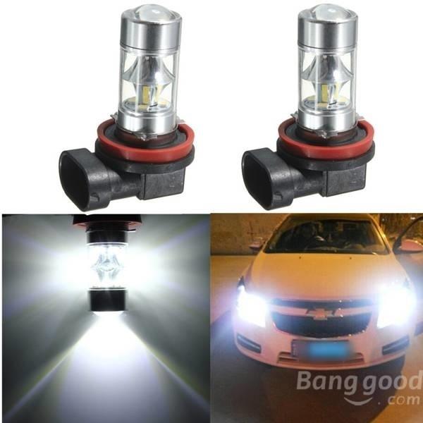 【クリックで詳細表示】2pcs H8 H11 12 SMD 2835 LED Light 6W Car Fog Driving Light Bulbs