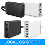 [LOCAL STOCK] ANKER 60W 5V/12A 6-Port Wall Charger and 40W/8A 5-Port USB Wall Charger  (100% Authentic with Serial Number/18MTHS WARRANTY)