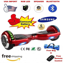 ★Samsung Batt Hoverboard★ [7/10 inch] Free Travel Bag + Remote Control / Free Bluetooth + RGB LED Upgrade / 6 Months SG Local Warranty / Free Delivery / Segway / Scooter