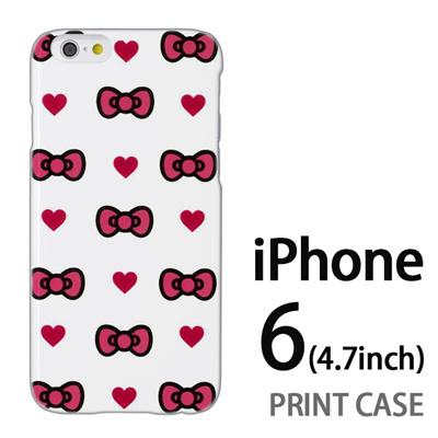 iPhone6 (4.7インチ) 用『0626 ピンクリボンドット』特殊印刷ケース【 iphone6 iphone アイフォン アイフォン6 au docomo softbank Apple ケース プリント カバー スマホケース スマホカバー 】の画像