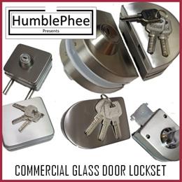 Double Side Glass Door Lock Set Pad Lock