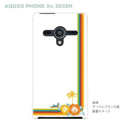 【AQUOS PHONEケース】【203SH】【Soft Bank】【カバー】【スマホケース】【クリアケース】【夏のパラダイス】 08-203sh-ca0069の画像