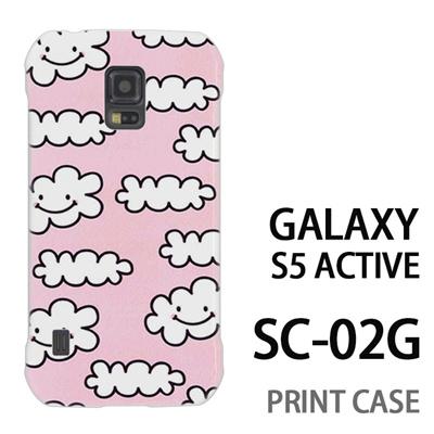 GALAXY S5 Active SC-02G 用『1000 雲ちゃん ピンク』特殊印刷ケース【 galaxy s5 active SC-02G sc02g SC02G galaxys5 ギャラクシー ギャラクシーs5 アクティブ docomo ケース プリント カバー スマホケース スマホカバー】の画像