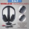 【LS】5 in 1 HIFI Wireless headphone Earphone Headset wireless Monitor FM radio for MP4 PC TV audio