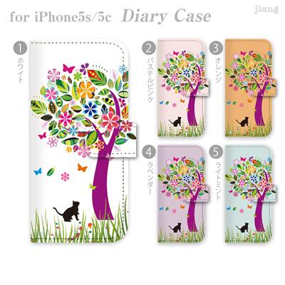 ジアン jiang ダイアリーケース 全機種対応 iPhone6 Plus iPhone5S iPhone5c AQUOS Xperia ARROWS GALAXY ケース カバー スマホケース 手帳型 かわいい おしゃれ きれい 花とネコ イラスト 22-ip5-ds0070-zen2 10P06May15の画像