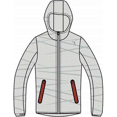 プーマ(PUMA) PROG グラフィックライトウェィトジャケット 903655 02 マイクロ チップ 【メンズ トレーニングウェア ランニング ジャージ パーカー】の画像