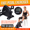 Exercise anywhere with digital pedal mini pedal Rehabilitation Arm Foot Pedal Exerciser