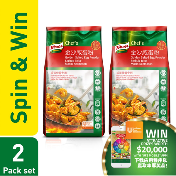 [Free Delivery] Knorr Golden Salted Egg Powder 2x800g Twin Pack Get Free Container Deals for only S$64 instead of S$0