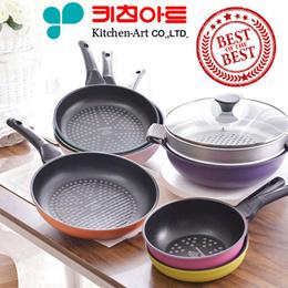[Kitchen Art 1+1] ★Free Shipping★Primium NEW Diamond + Stone Coating Fring Pan 1+1