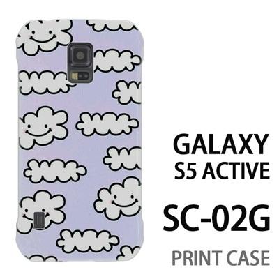 GALAXY S5 Active SC-02G 用『1000 雲ちゃん 水』特殊印刷ケース【 galaxy s5 active SC-02G sc02g SC02G galaxys5 ギャラクシー ギャラクシーs5 アクティブ docomo ケース プリント カバー スマホケース スマホカバー】の画像