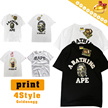 UNISEX◆APE Casual Short Sleeve T-shirts for Men n Women◆Round Neck TEE/ 7 styles/ S-2XL sizes