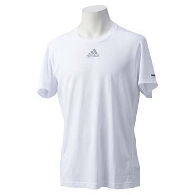 アディダス(adidas) M SQ ランニング 半袖Tシャツ ITQ08 S03010 WHT 【メンズ ランニングシャツ】の画像