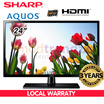 Sharp 24 Inch Aquos HD Ready LED Panel TV (LC-24LE155M ) |HDMI | USB | 50Hz | Super Eco Mode Low Power Consumption | 3 Years Local Manufacturer Warranty