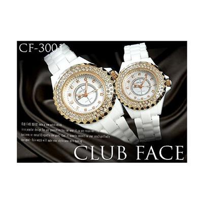 レディース メンズ  ダイヤベゼル セラミックベルト 腕時計 全4種の画像