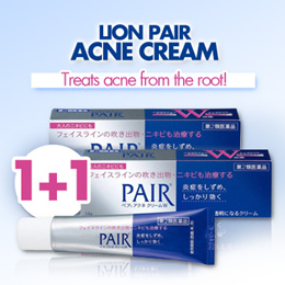 1+1 Event★LION Pair Acne cream W / Creamy Foam / Liquid / Clean Lotion! Direct from Japan 女人我最大