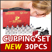 [Made in korea]HANSOL CUPPING SET 19 CUPS Vacuum massage and Acupuncture Slimming Massage/ Vacuum TH