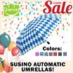 [SUSINO] Automatic Umbrella DIFFERENT COLORS