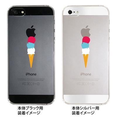 【iPhone5S】【iPhone5】【Clear Arts】【iPhone5ケース】【カバー】【スマホケース】【クリアケース】【アイスクリーム】 09-ip5-ca0010の画像