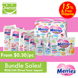 PETPET Mega pack baby diapers x 3 packs (1 c/s) M80/L68/XL56 (SAVE $9!!!)