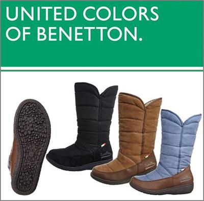 【送料無料】 【BENETTON】 ベネトン 366 ウインターカジュアル レディース 防寒 防水ブーツ レディースブーツ BEW3660 (A倉庫)の画像