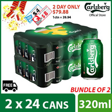 (1=$39.94) with $8 Cart and $4 shop coupon Bundle of 2 - Carlsberg Green Label Can 320ml ( 48 cans )