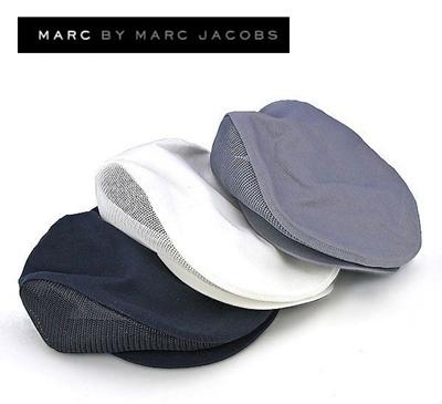 MARC BY MARCJACOBSのハンチング♪【送料無料】マークバイマークジェイコブスのメッシュコットンハンチングキャップ☆世界で最も有名なデザイナーの一人マークジェイコブス自身のブランド☆【帽子の画像