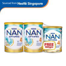 [Nestle] NAN Kid 4 Growing Up Milk 1.8kg x 2 tins FREE x 1 tin 900g