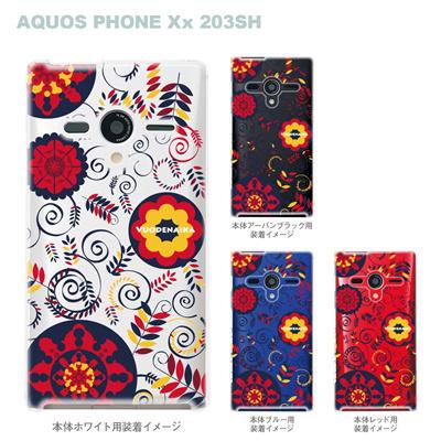 【AQUOS PHONEケース】【203SH】【Soft Bank】【カバー】【スマホケース】【クリアケース】【Vuodenaika】【フラワー】 21-203sh-ne0013caの画像
