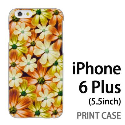 iPhone6 Plus (5.5インチ) 用『No4 マーブルフラワー』特殊印刷ケース【 iphone6 plus iphone アイフォン アイフォン6 プラス au docomo softbank Apple ケース プリント カバー スマホケース スマホカバー 】の画像