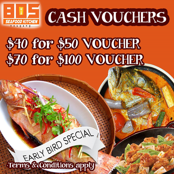 805 Seafood Kitchen. Introductory Promotion. Cash voucher. Dine in. Deals for only S$100 instead of S$0