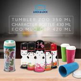 Lock n Lock - November Rain Tumbler Party -  TUMBLER ZOO 350 ML - ECO MUG CUP 420 ML - Character Bottle 430 ML - Free Shipping Jabodetabek