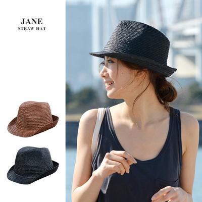【決算処分特別価格】ストローハット レディース/メンズ 帽子 JANE 折りたたみ 麦わら帽子の画像