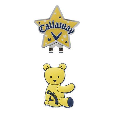 キャロウェイ (Callaway) Bear Marker 15JM(ベアーマーカー)イエロー 5915135 [分類:ゴルフ マーカー]の画像
