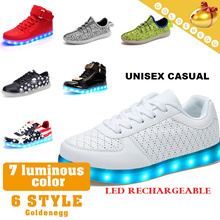 ☆Reasonable Price ▶LED Light Luminous Shoes for UNISEX◀USB charging/ LED colorful and beautiful light/ Irradiative shoes/ Men n Women/ Stylish 6 Models