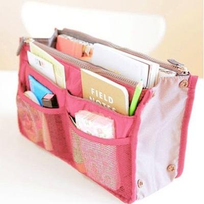 【国内発送】収納バッグ 13色から選べる 折り畳める BAG IN BAG タブレットも化粧品もすっきり収納出来ます!#6024#の画像