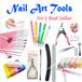 Nail Art Tools File Buffer Clippers Glitters Powder Brush Decoration Designs resin rhinestones gelish nail polish edge cutter