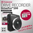 クーポン使用可能★【Transcend】運転映像を記録ドライブレコーダー DrivePro™ 200    TS16GDP200M-J MICROSD16GB同梱タイプ