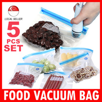 Food Vacuum Compression Bags ( 5 pcs Set ) of fresh vegetables food bags sealed bags food freezer