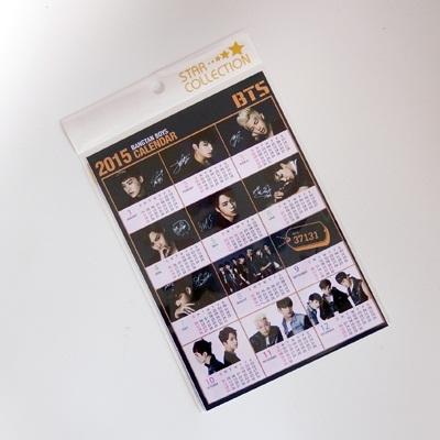 BTS 防弾少年団 2015 カレンダー ミニ シール / れぷもん JIN SUGA J-HOPE JIMIN V JUNG KOOK 2015 calendar 防弾 kpop a5サイズの画像