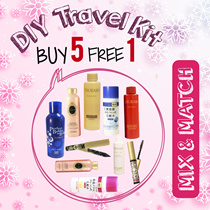 ♥ TBQ XMAS Special!♥ 5items + 1 FREE TRAVEL SIZE  ♥ DIY Travel Kit ♥ Tsubaki ♥ Ma Cherie ♥ Shampoo/Conditioner ♥ Senka Hoshitsu/Whitening Lotion ♥ Majolica Mascara/Eyeliner ♥